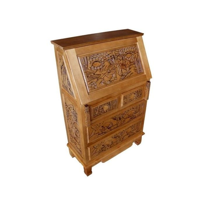 handcarved-writing-bureau
