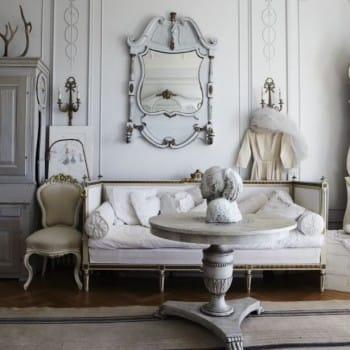 Wintery White Shabby Chic Room