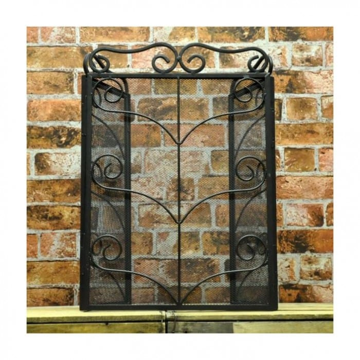 3-fold-black-steel-firescreen