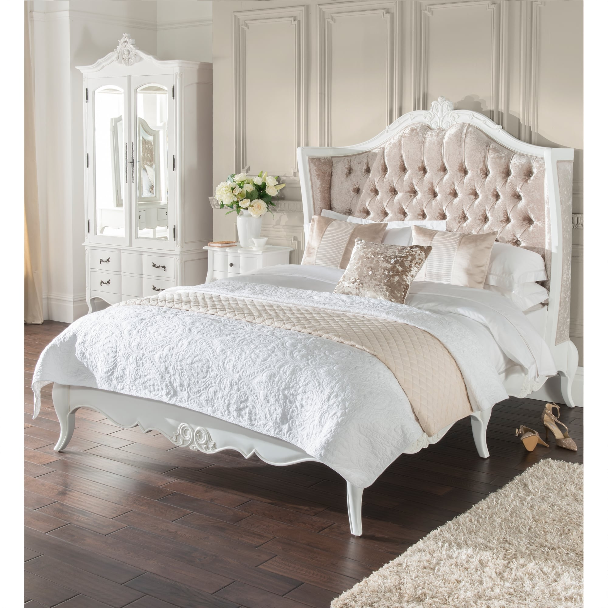 The estelle bedroom collection french style shabby chic - Shabby chic bedroom sets for sale ...