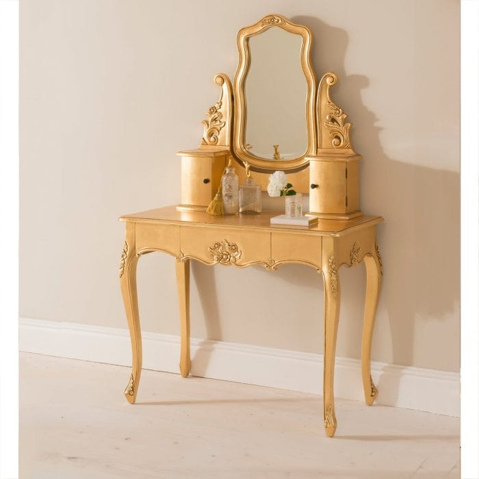 Dressing Table Ing And Maintenance, Vintage Style Vanity Table With Mirror