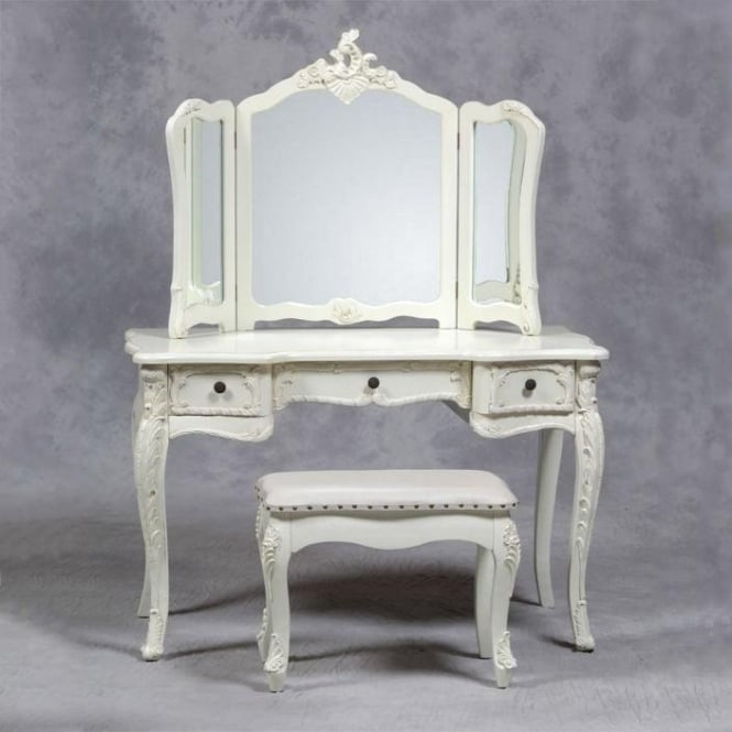 Antique ivory colour dressing table set