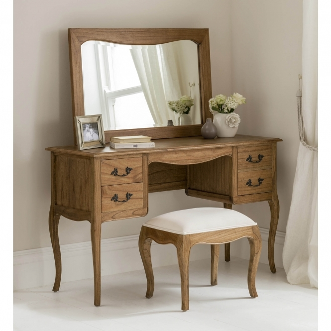 wooden dressing table set