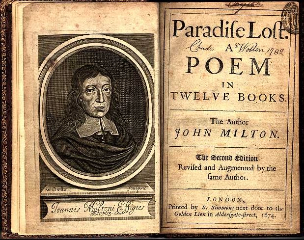 The book Paradise Lost by John Milton