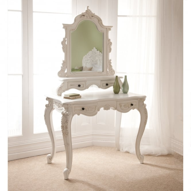 French Style Dressing Table in antique white colour