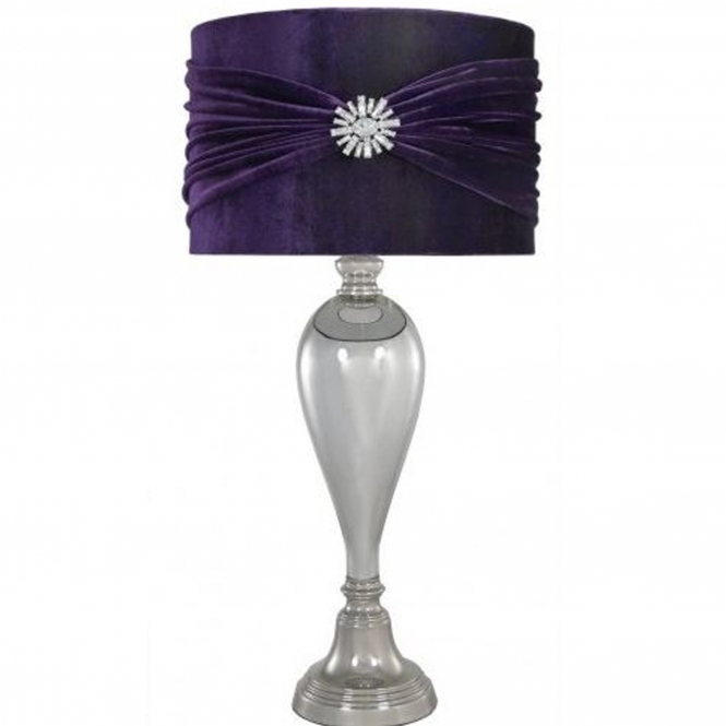 antique french style purple table lamp