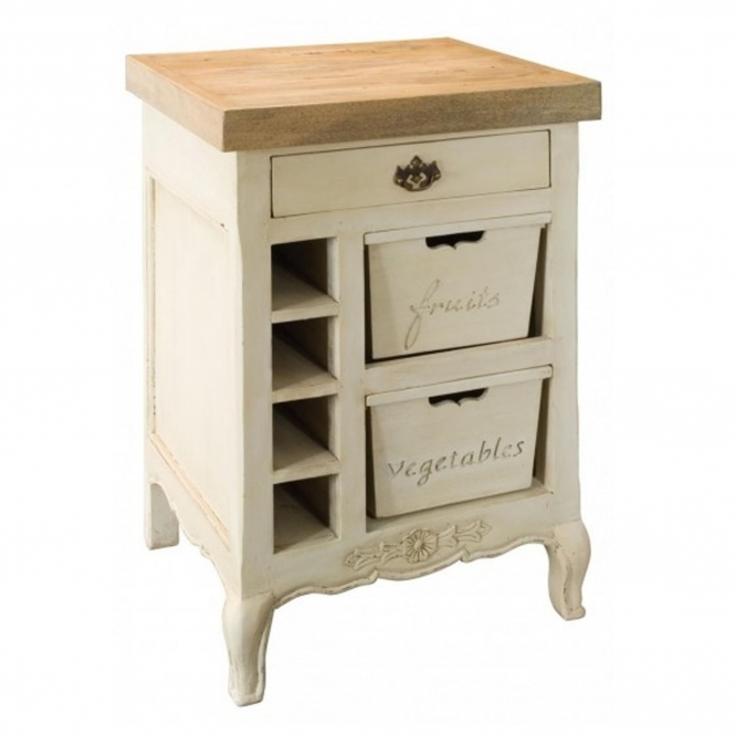 Amberly French style shabby chic chopping block for the kitchen