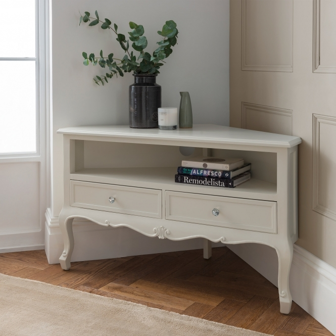 Antique French style corner TV Unit