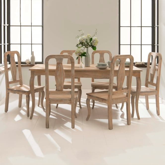 Antique French style dining table set with chairs