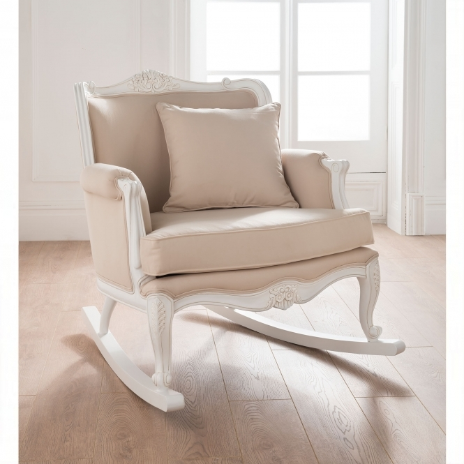 a shabby chic rocking chair
