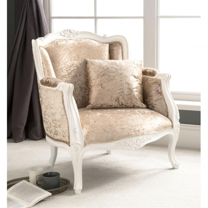 shabby chic style chair for fireplace