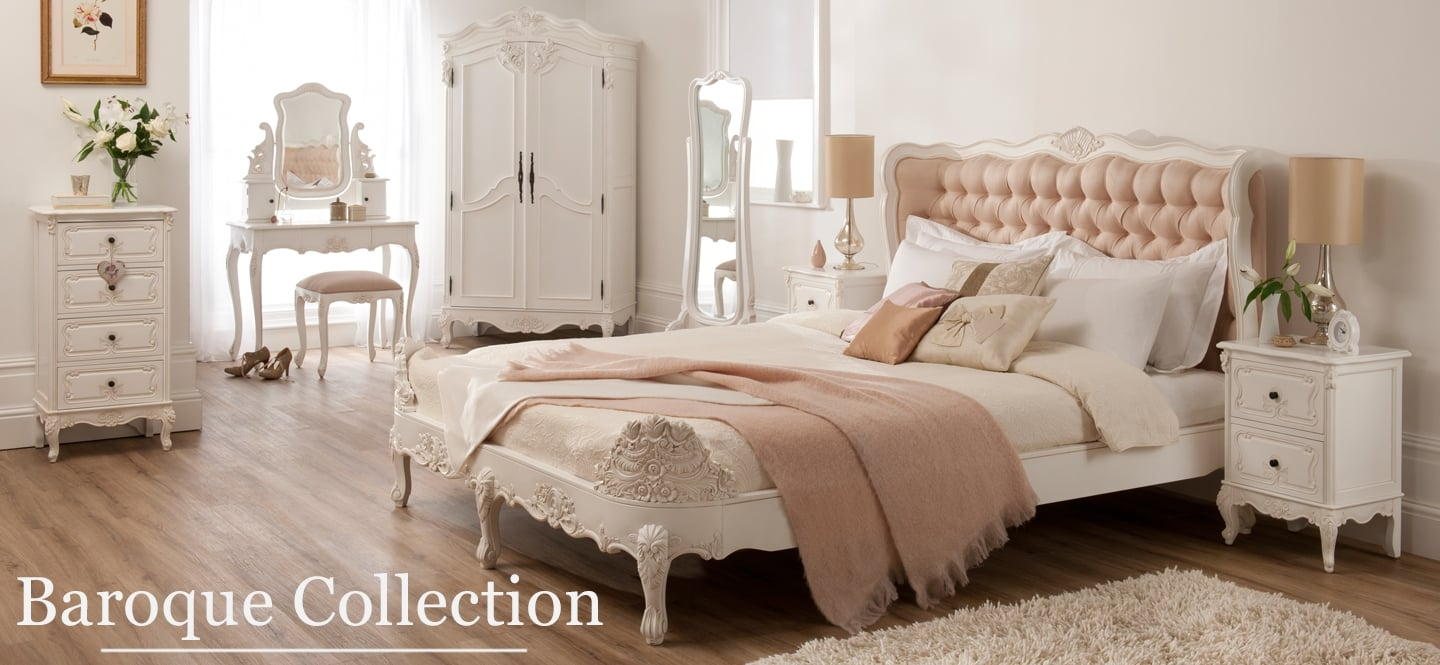 Baroque French bedroom furniture set