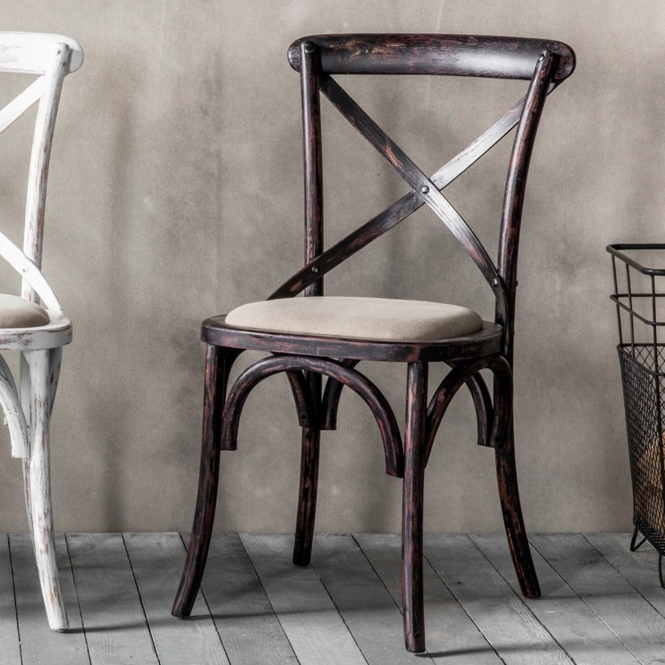Cafe black antique French style chairs