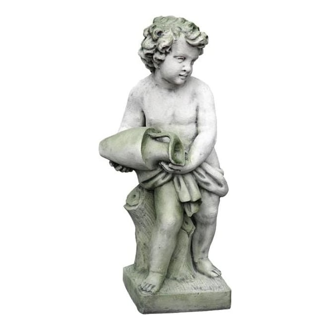 Antique French style garden cherub