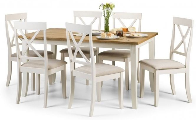 Davenport Rectangular French style dining table and chair set