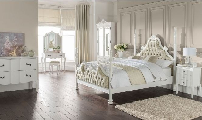 Estelle collection bedroom shot white and pastel green