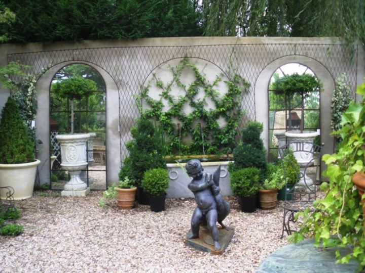 French style garden decor on wall