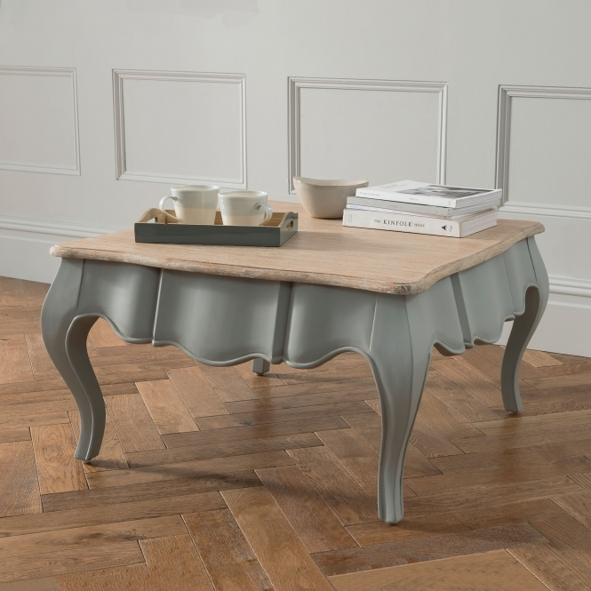 Grey antique French style coffee table