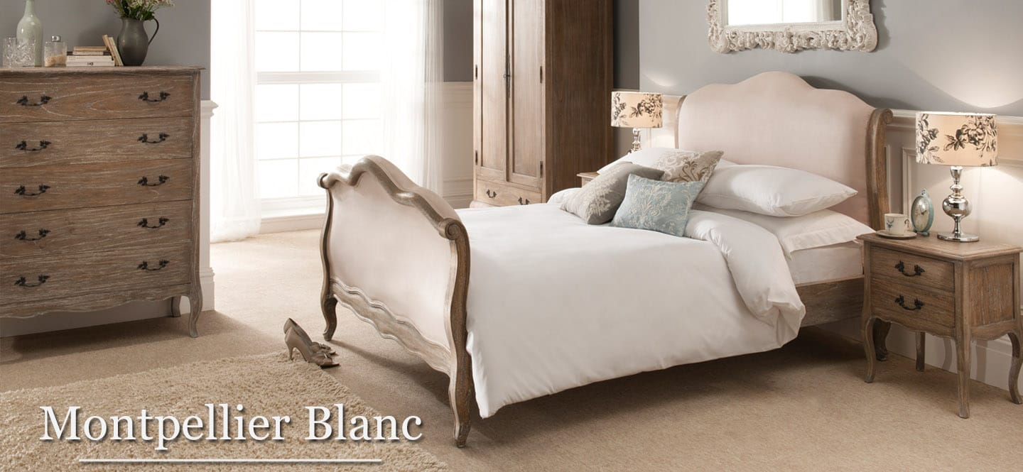 Montpellier blanc French bedroom furniture set