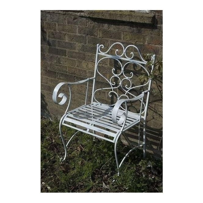Single antique French style garden chair