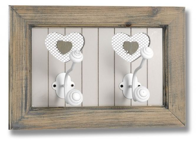French style shabby chic heart shaped wall hooks