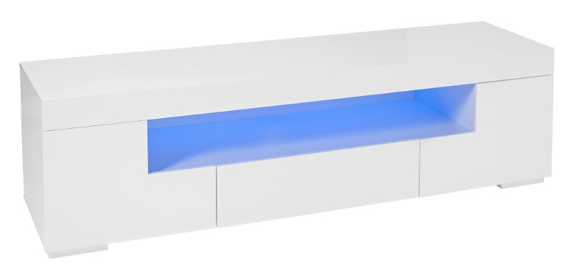 LED TV Cabinet - Milano White