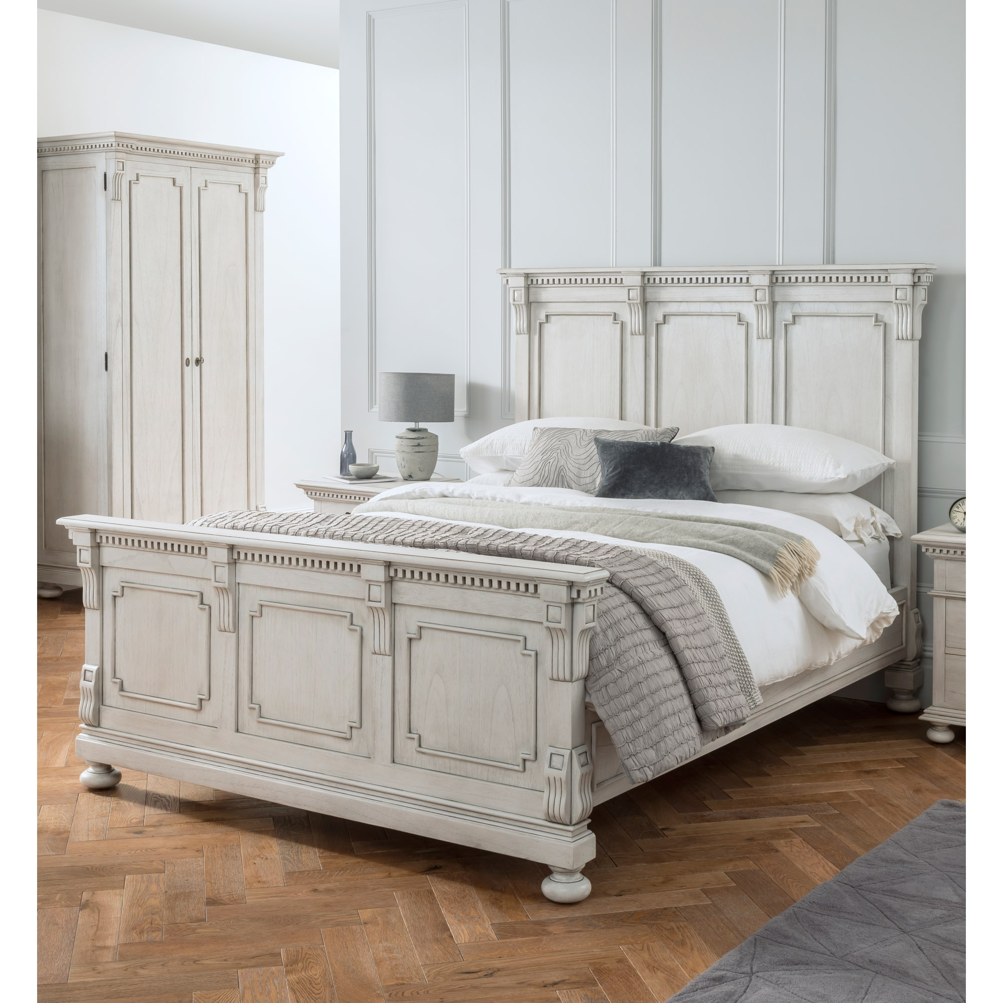 Bakersfield Grey Antique French Style Bed