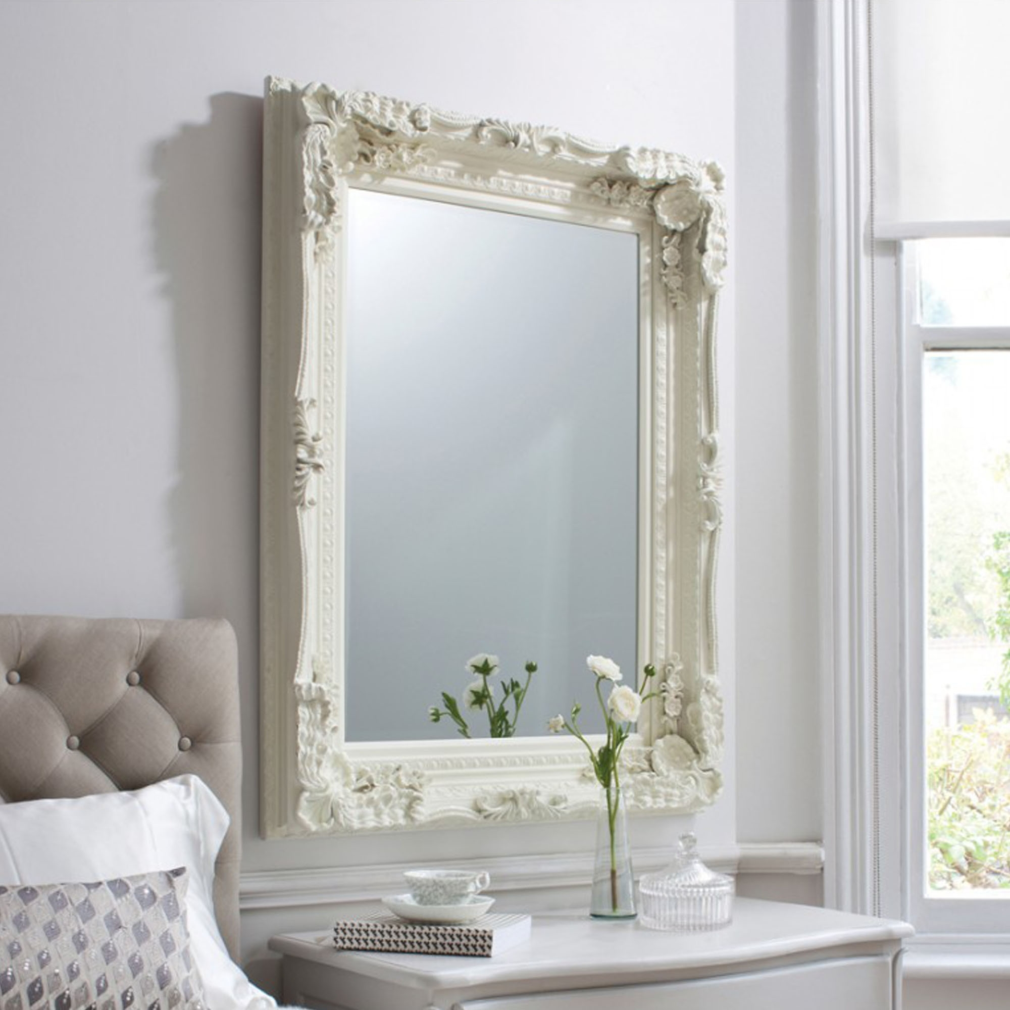 Carved Louis XV French Wall Mirror