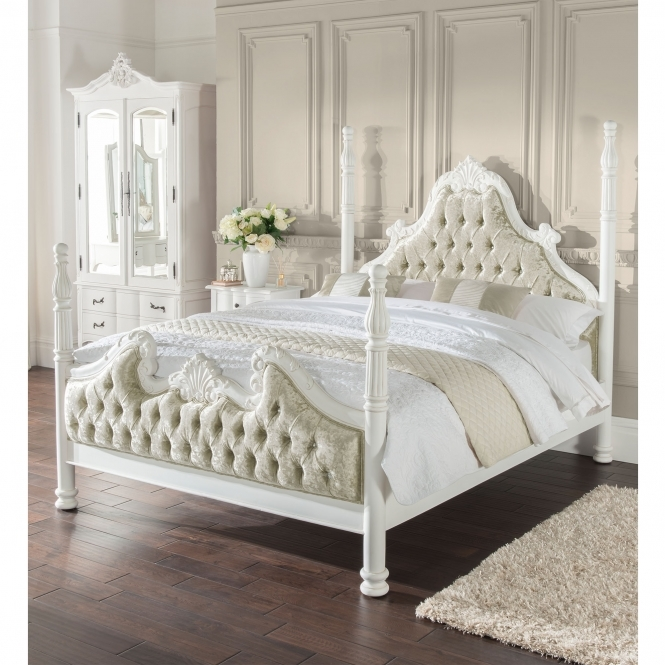 Estelle Four Poster Antique French Style Bed