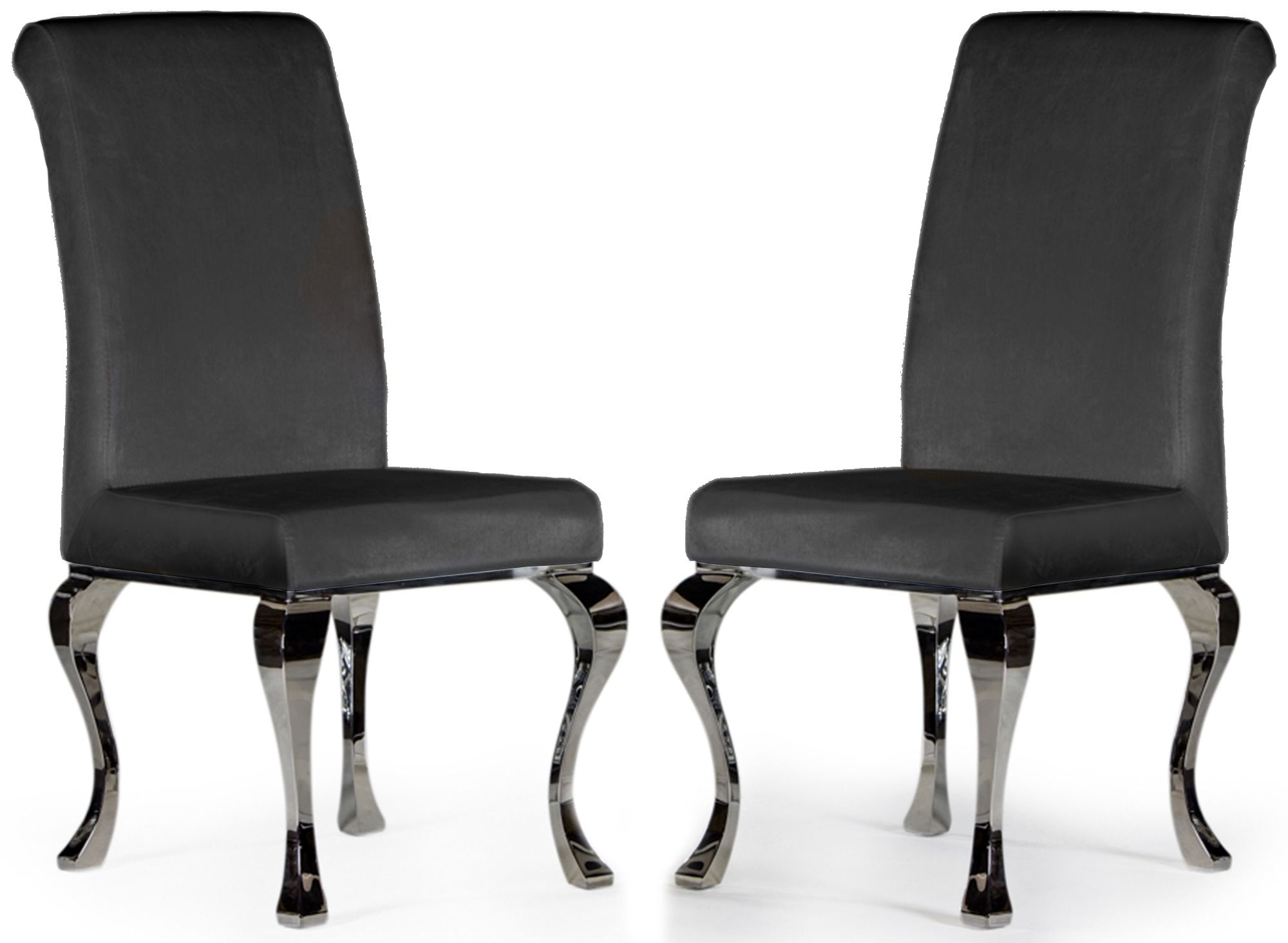 French style velvet chairs with cabriole legs