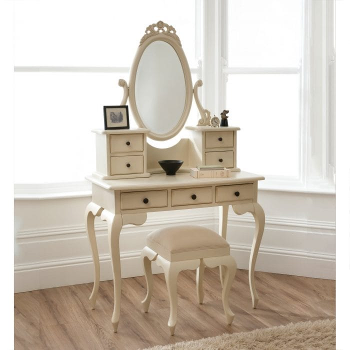 Ivory Bordeaux Dressing Table Set