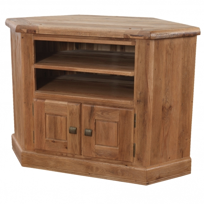 A beautiful Oak corner TV cabinet