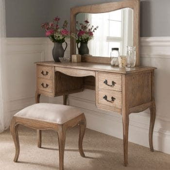 Montpellier Blanc Dressing Table Set in Natural Wood