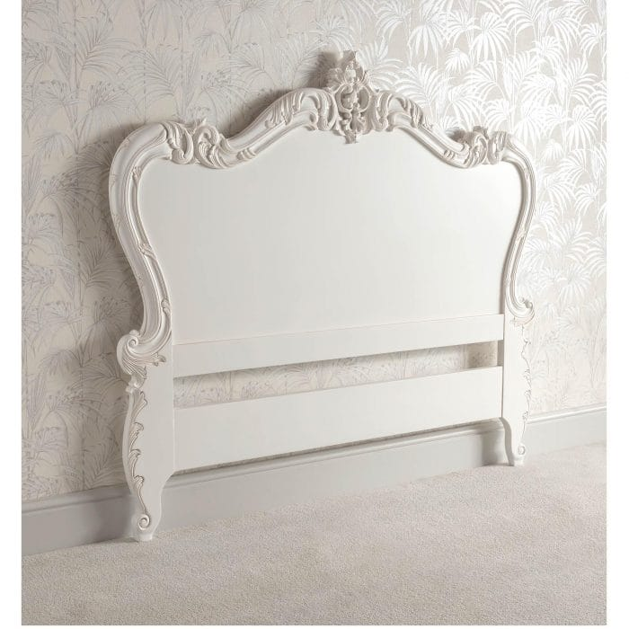 Antique french style handcarved headboard