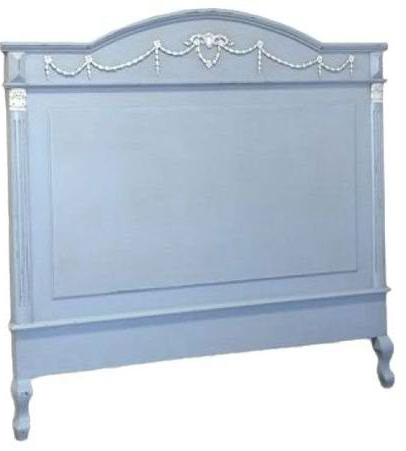 French style headboard in pastel blue