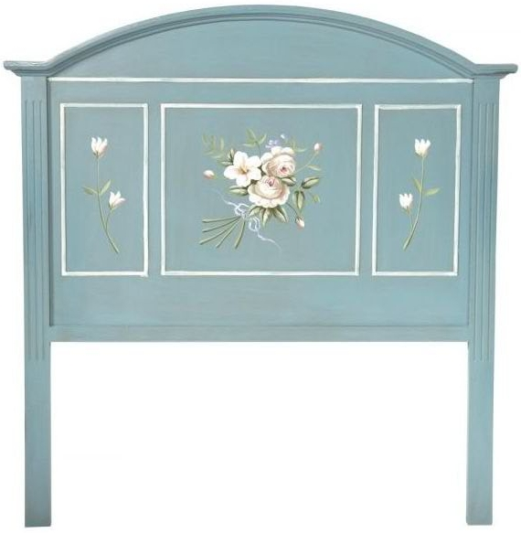Blue color antique french style headboard