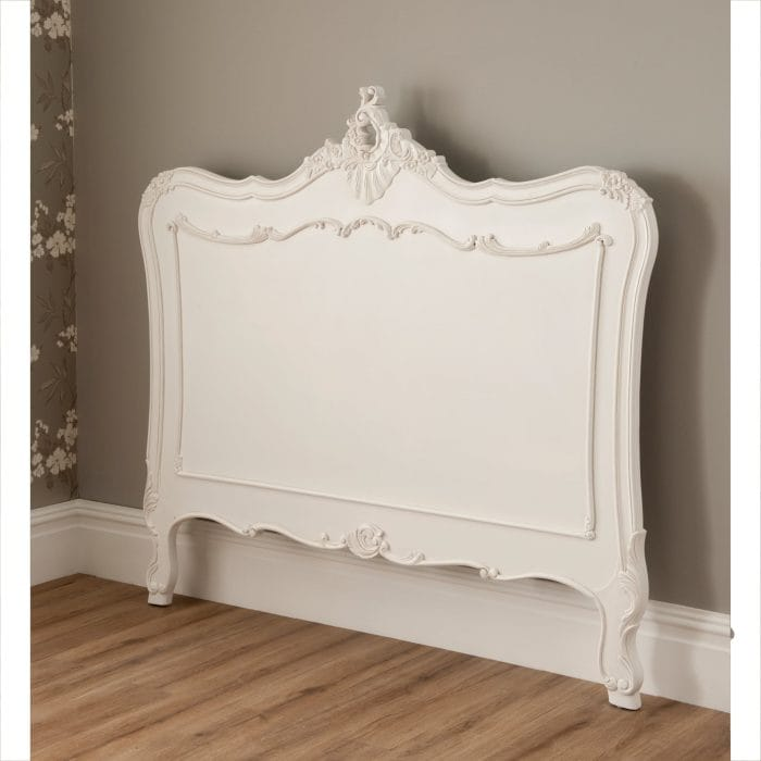 French style headboard in white