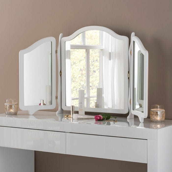 Place A Dressing Table In Your Bedroom, White Dressing Table With Fold Down Mirror