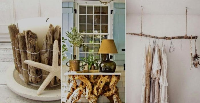 driftwood decor around the home