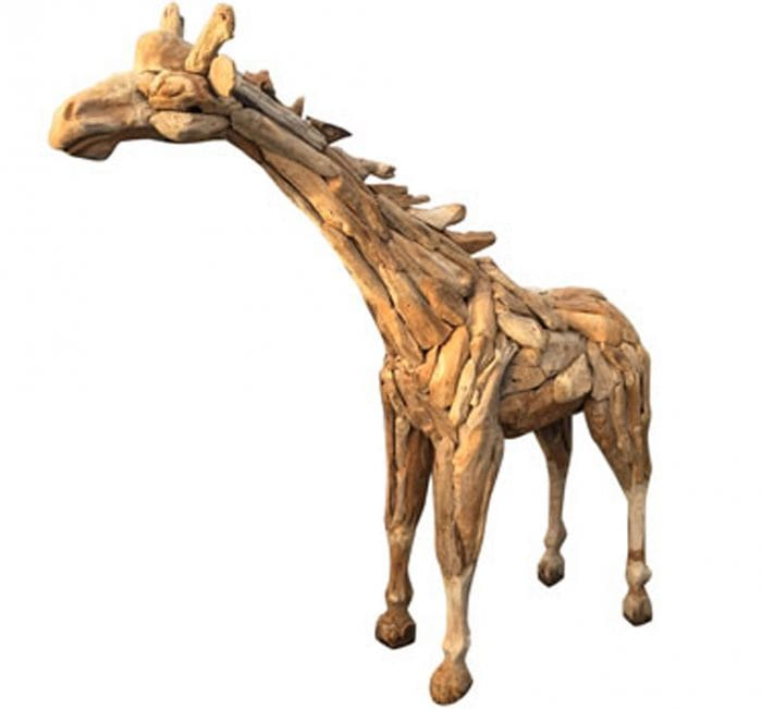 Driftwood Small Giraffe Ornament