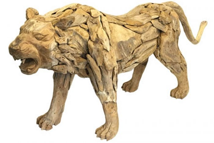 Driftwood Tiger Sculpture