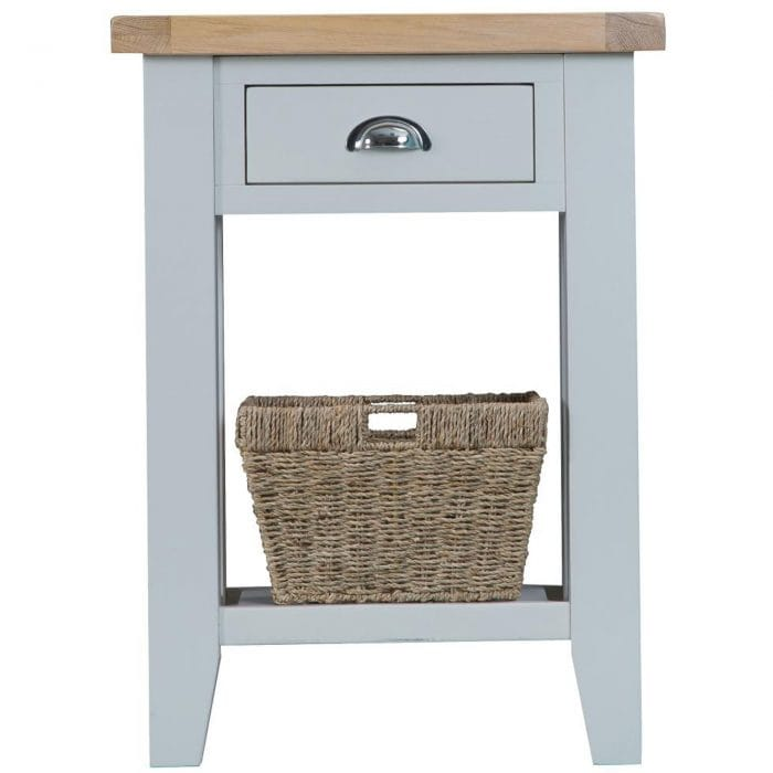 Grey side table bisbee collection