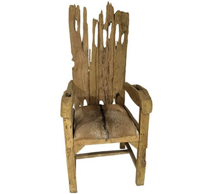 driftwood dining chair hand made