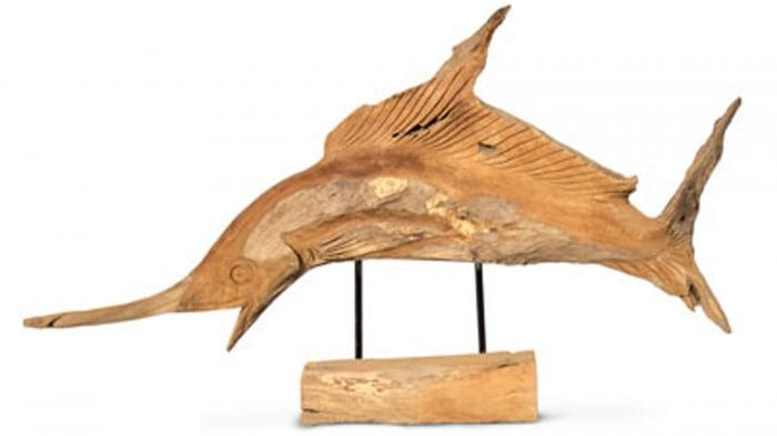driftwood fish hand carved