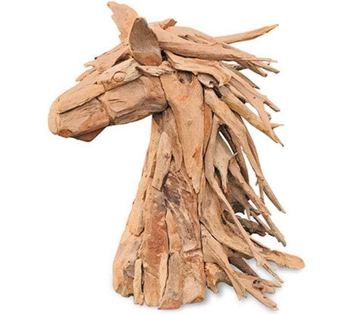 driftwood ornament horses head