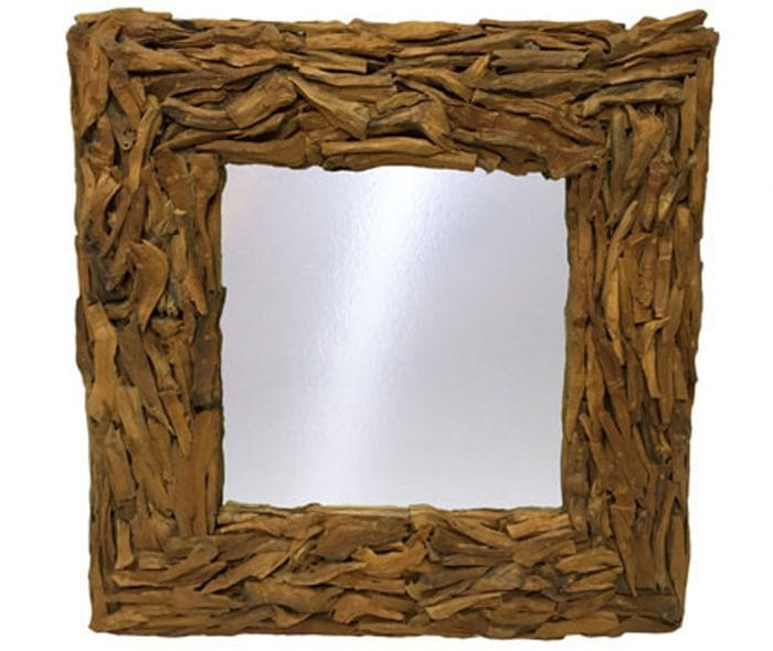 driftwood mirror - square design