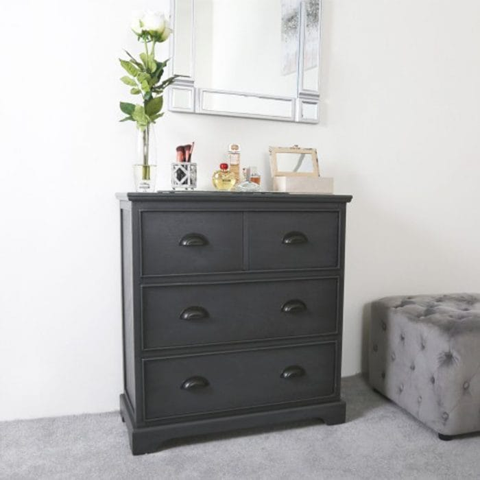 Tall dark grey cabinet