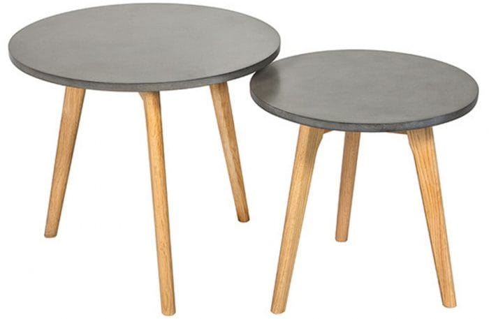 Grey set of tables