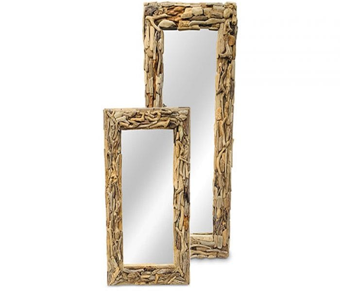 driftwood rectangular mirror