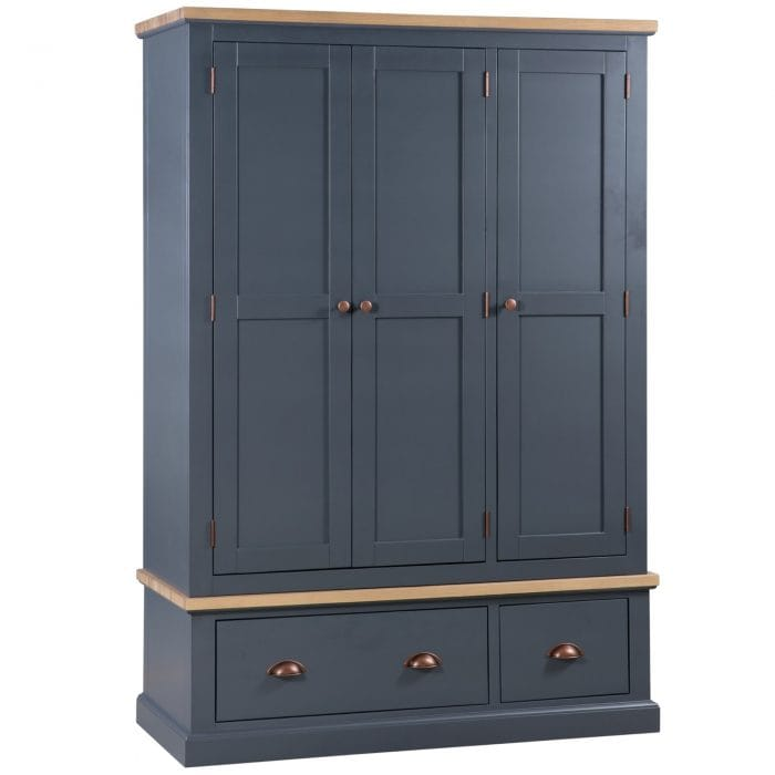 Grey wardrobe with 2 drawers